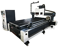 OmniCAM PRO CNC Router With Automatic Tool Changer and Rotary Attachment
