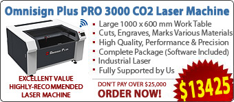 Omnisign Plus PRO 3000 Series-3 CO2 Laser Cutting/Engraving/Marking Machine
