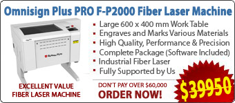Omnisign Plus PRO F-P2000 Fiber Laser Engraving/Marking Machine