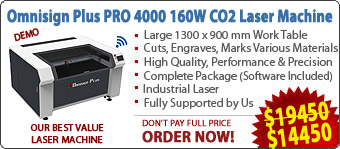 Omnisign Plus PRO 4000 Series 3 Laser Cutting/Engraving/Marking Machine