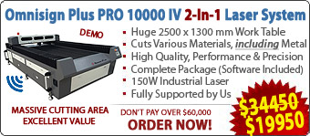 Omnisign Plus PRO 10000 Series 4 Metal and Non-Metal Laser Machine