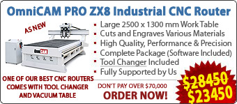 OmniCAM PRO ZX8 CNC Routers/Engravers With Tool Changers