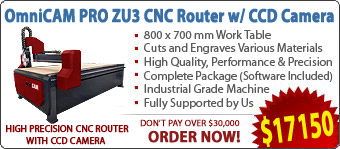 OmniCAM PRO ZU3 CNC Routers/Engravers With CCD Camera