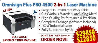 Omnisign Plus PRO 4500 Series 4 Metal and Non-Metal Laser Machine