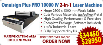 Omnisign Plus PRO 10000 Series-4 CO2 Laser Cutting/Engraving/Marking Machine