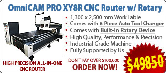 OmniCAM PRO XY8R CNC Routers/Engravers With Automatic Tool Changer and Built-In Rotary Device