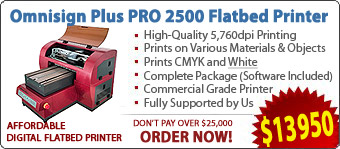 Omnisign Plus PRO 2500 Digital Flatbed Printers