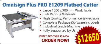 Omnisign Plus PRO E1209 Flatbed Cutting Machines / Cutters
